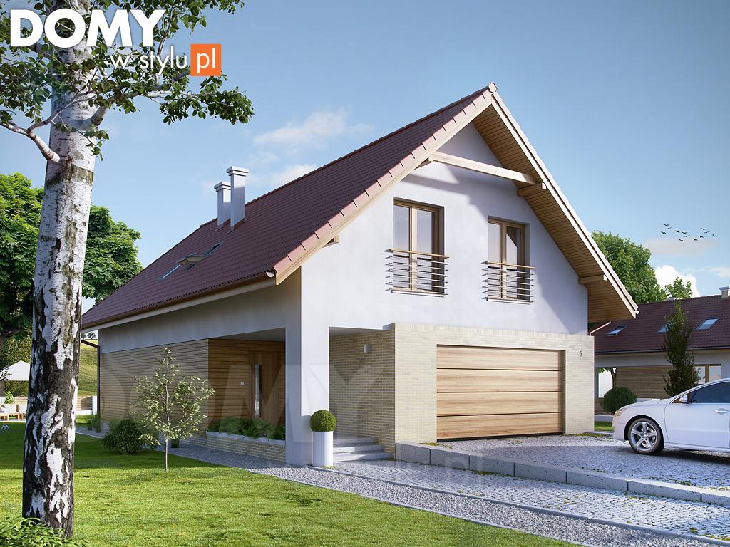 wizualizacja 3D domu na wąskiej działce